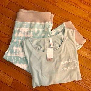 Sleep by Cacique Plus size crop jogger pajama set